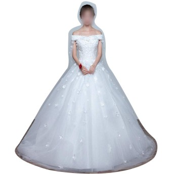 Sportgosto 妊娠中の女性のウェディングドレスの花嫁プリンセスシンプルな女性の尾 (Design : Flat, サイズ : XXL)