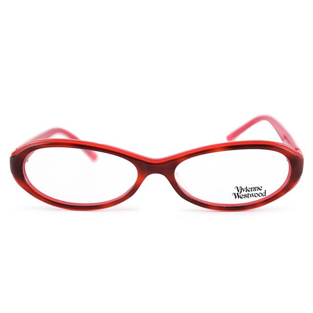 【Vivienne Westwood】英國薇薇安魏斯伍德簡約金色星球光學眼鏡(紅) VW132-04