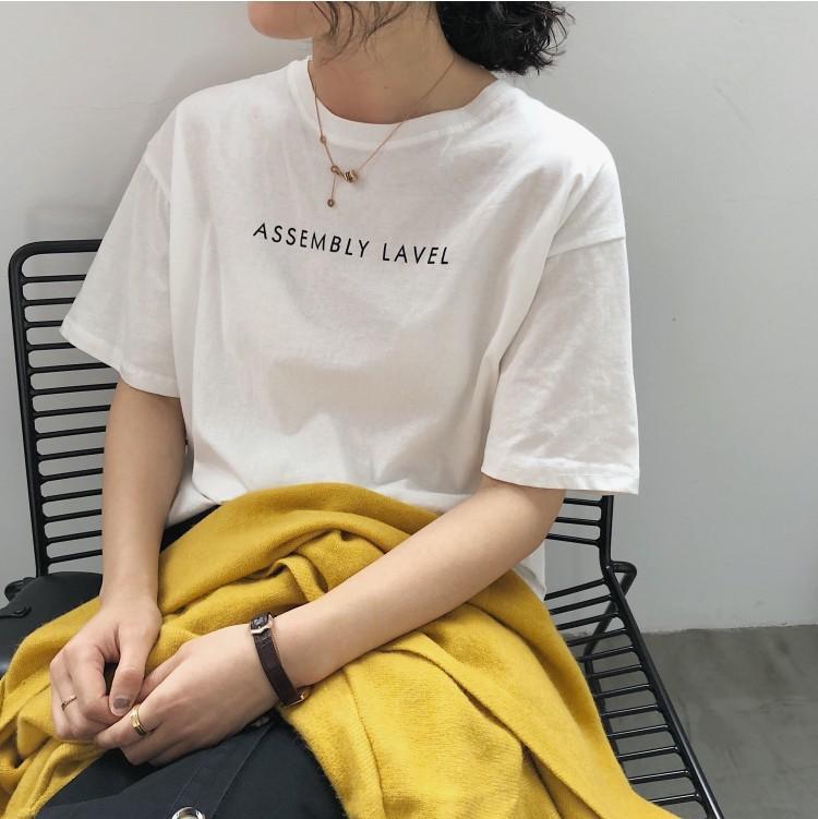 【missy shop】英文標語(AS)短袖Tee