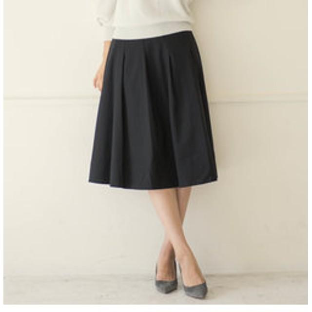 【J Lounge:スカート】≪手洗い可能≫アナスタシア変形タックスカート