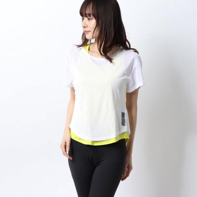 アディダス adidas レディース 陸上/ランニング 半袖Tシャツ ADAPT 2in1 TシャツW FN5984