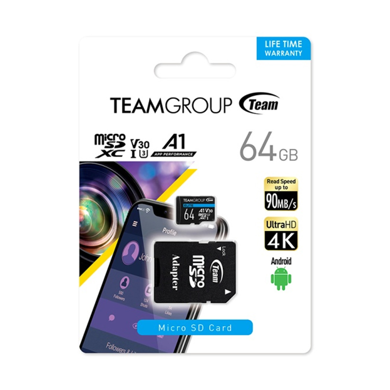 【記憶卡】Team Elite MicroSDXC  64G USH-3