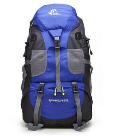 防水 超軽量 登山リュック アウトドアスポーツ登山用バックパック防水性と耐久性のある肩を歩くことによる多目的旅行マウンテンキャンプ 男女兼用バッグ (Color : Blue)