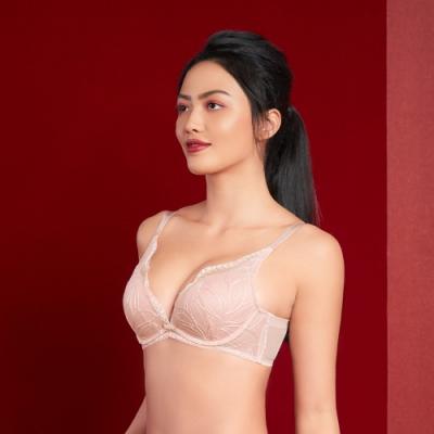 黛安芬-飄舞水感動系列 低V集中 B-C罩杯內衣 薔薇粉