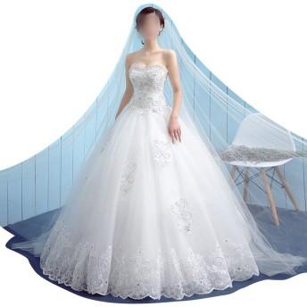 Sportgosto のウェディングドレスホワイトシンプルラージサイズスレンダードレス (サイズ : XL)