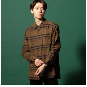【メンズビギ:トップス】ツイルネルチェックシャツ[JAPAN FABRIC]