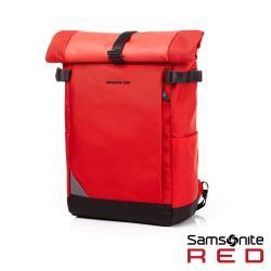 Samsonite RED AUBINNE 捲蓋式新穎筆電後背包14(紅)-GI9*00001