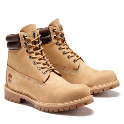 Timberland 男款淺咖啡色磨砂革經典雙領6吋靴A27UF919