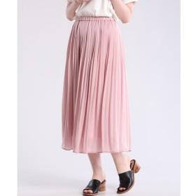 【マルシェ ド クリアインプレッション/MARCHE de CLEAR IMPRESSION】 パウダーサテンプリーツスカート