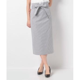 (MADAM JOCONDE/マダム ジョコンダ)コットンブロードストライプ スカート/レディース ホワイト
