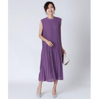 LASUD [radiatethelifedress]シフォンプリーツドレス レディース ライトパープル M 【LASUD】