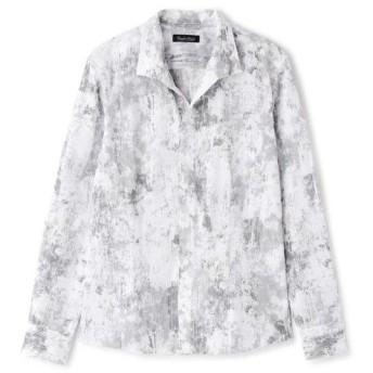 トルネードマート TORNADO MART∴朧クロコダイルフロッキープリントシャツ メンズ オフ白5 LL 【TORNADO MART】