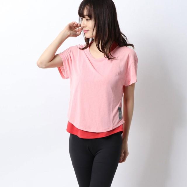 アディダス adidas レディース 陸上/ランニング 半袖Tシャツ ADAPT 2in1 TシャツW FL6005