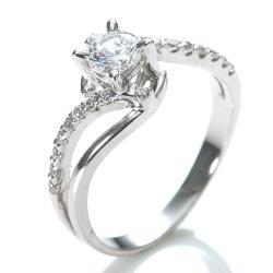 Amor  求婚戒 八心八箭晶鑽 銀飾戒指(022)