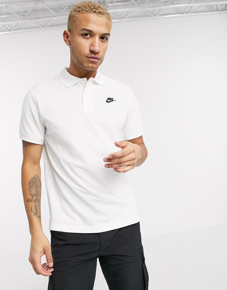 Nike Club Essentials polo shirt in white