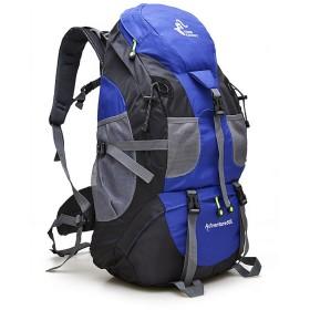 防水 超軽量 登山リュック ユニセックスアウトドアスポーツ登山用バックパック多目的ショルダーウォーキングでのハイキングキャンプ 男女兼用バッグ (Color : Blue)