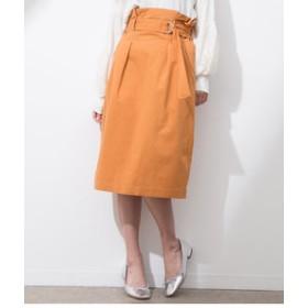 【ViS:スカート】綿ツイルベルト付ハイウエストスカート