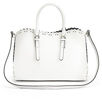 LAURA DI MAGGIO(R)/ラウラ ディ マッジオ スカラップデザイン 2WAY バッグ(イタリア製)ホワイト