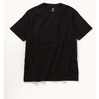 シップス SHIPS any×HANES: 別注 ベーシック ユーティリティ Tシャツ メンズ ブラック LARGE 【SHIPS】