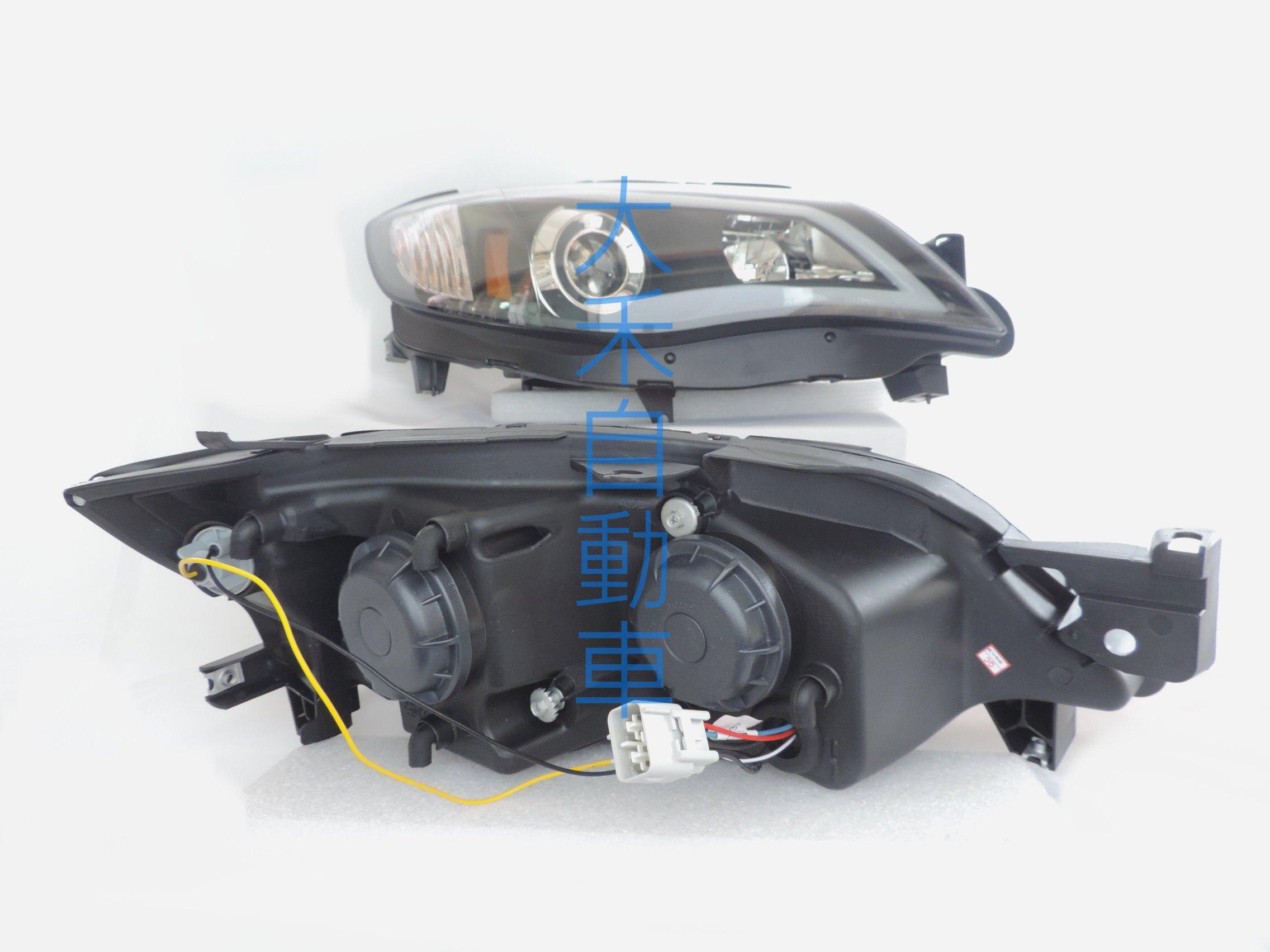 大禾自動車 LED導光條魚眼黑底大燈 適用 SUBARU IMPREZA 08-13 STI 類R8