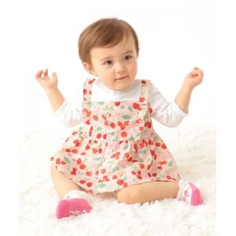 (anyFAM(KIDS)/エニファムキッズ)【baby/70-80cm】チェリー×花柄 セットアップ/ ピンク系5