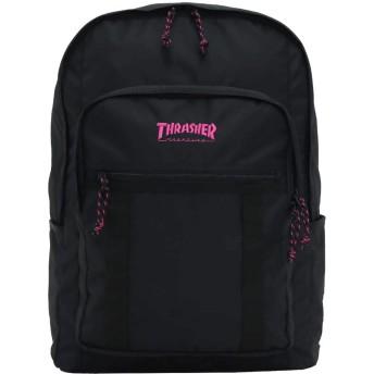 [スラッシャー] THRASHER リュックサック バックパック デイパック フラップ メンズ レディース 25L Benchmark THR-138 (ブラック/ピンク)