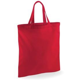 (ウエストフォード・ミル) Westford Mill ショートハンドル ショッピングバッグ エコバッグ ショッパー お買い物かばん トートバッグ (2パック) (ワンサイズ) (クラシックレッド)