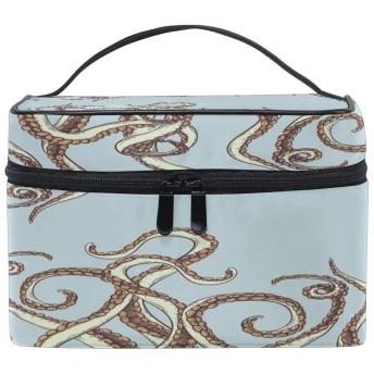 海の海の動物のタコの触手 化粧ポーチ 化粧品収納バッグ 大容量 旅行 トイレタリー収納