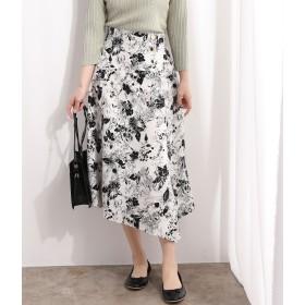 ViS(ビス)/線花柄ハンカチヘムラインスカート