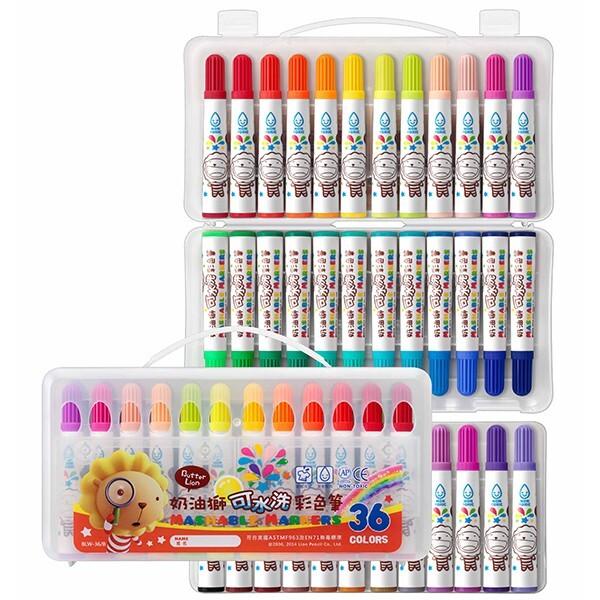 雄獅 blw-36/b 36色 奶油獅 可水洗彩色筆 水洗彩色筆  1入1個