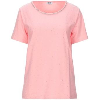 《セール開催中》LIU JO レディース T シャツ ピンク S コットン 95% / ポリウレタン 5%
