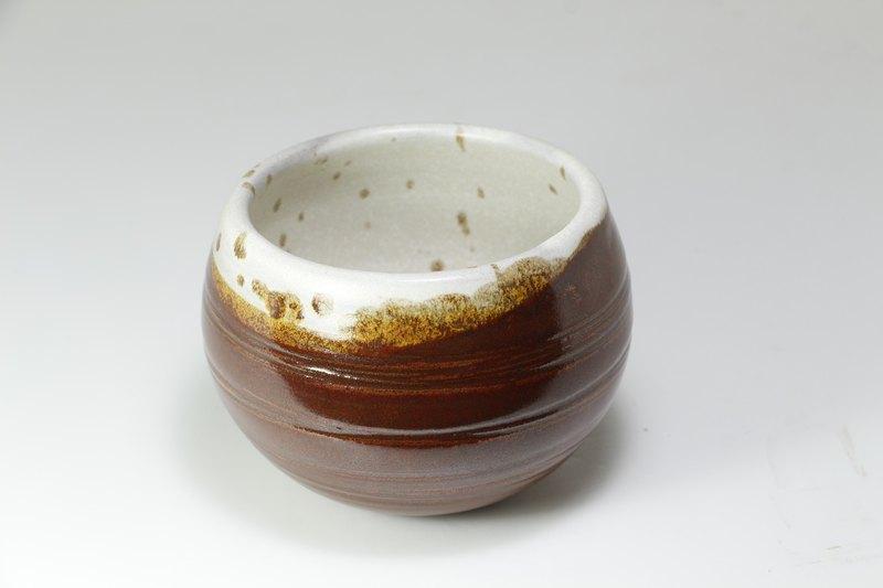 雙掛釉瓶-純手工--手作--拉坯--上釉--陶土