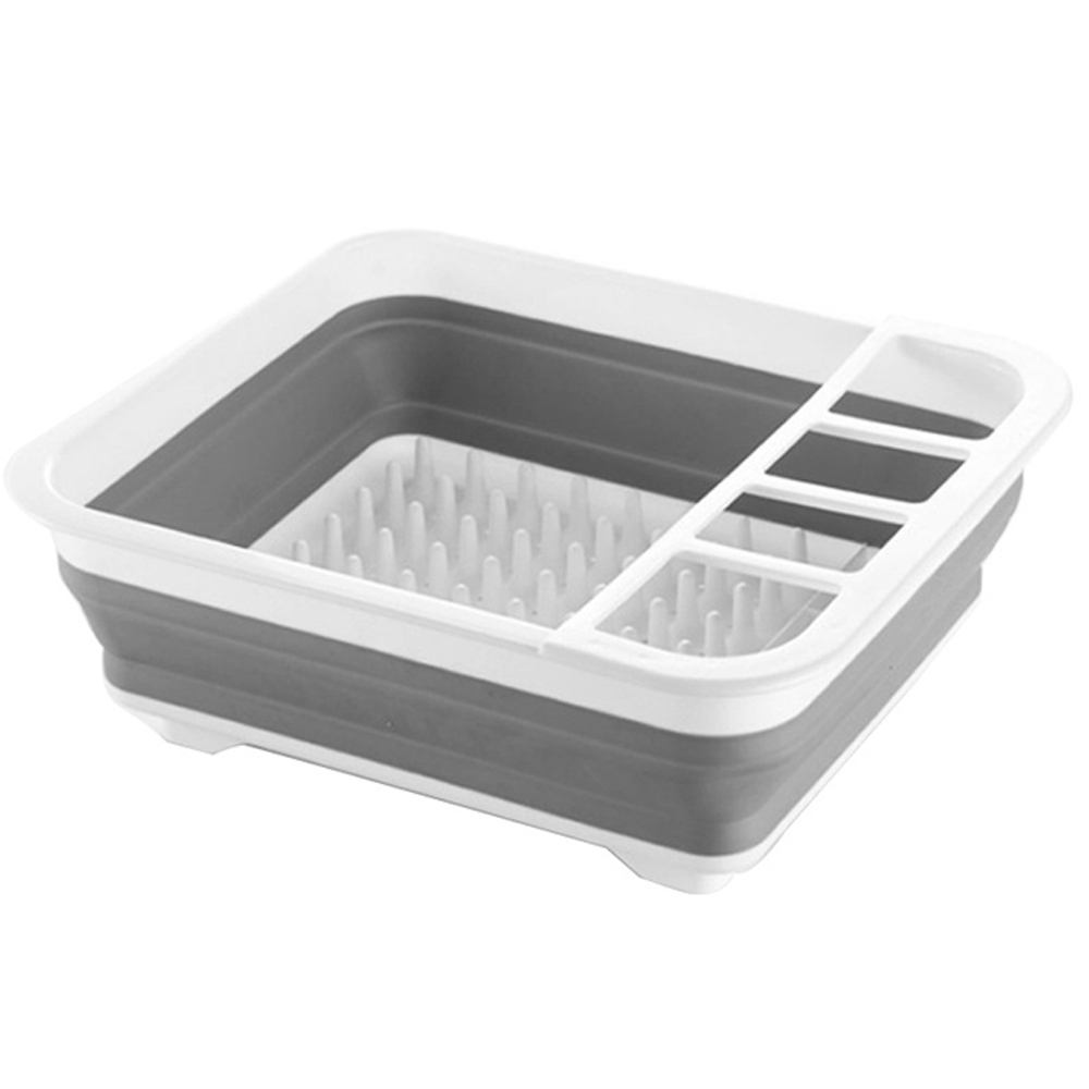 【iSFun】彈性收納*日式摺疊瀝水碗盤架