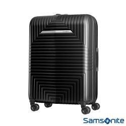 Samsonite新秀麗 24吋D200 幾何圖形可擴充硬殼行李箱(黑)-DK0*79002