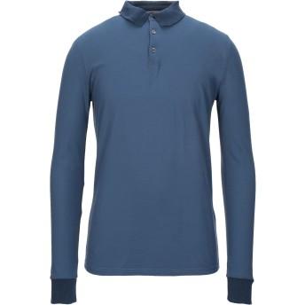 《セール開催中》ALPHA STUDIO メンズ ポロシャツ ブルー 48 コットン 100%
