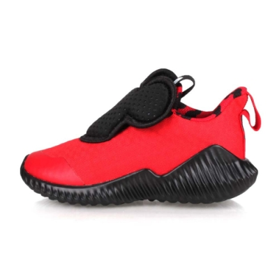 ADIDAS 小童休閒慢跑鞋 FortaRun Mickey AC I 紅黑