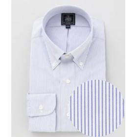 【J.PRESS MEN:トップス】【形態安定】PREMIUM PLEATS / マイクロストライプ シャツ