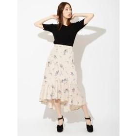 【BE RADIANCE:スカート】フラワーフィッシュテールスカート