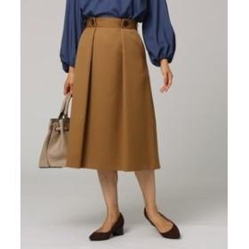 【UNTITLED:スカート】ウエストボタンフレアスカート