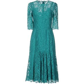 《セール開催中》DOLCE & GABBANA レディース 7分丈ワンピース・ドレス ターコイズブルー 36 コットン 36% / レーヨン 34% / ナイロン 30%