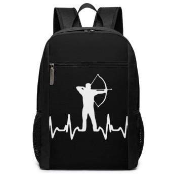 Archery Heart Beat バックパック リュック 男女兼用 大容量 多機能 リュックサック 旅行 通勤 通学 PC収納 高耐久性