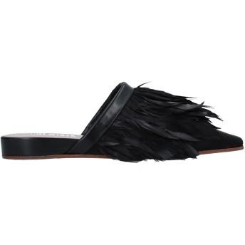 《セール開催中》PREMIATA レディース ミュールサボ ブラック 36 革 / 紡績繊維