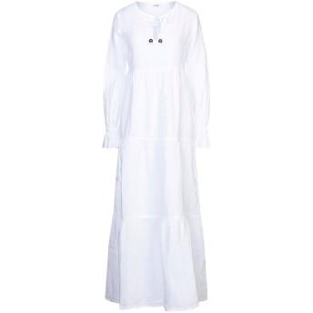 《セール開催中》LFDL レディース ロングワンピース&ドレス ホワイト S リネン 100%
