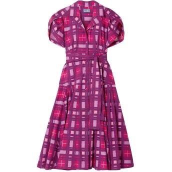 《セール開催中》LHD レディース 7分丈ワンピース・ドレス パープル 0 コットン 95% / ポリウレタン 5%
