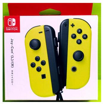 [現金價] (公司貨) 任天堂 Switch主機 NS Joy-Con 左右手控制器+LR腕帶 黃色手把 (預購3/20)