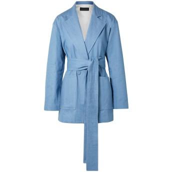 《セール開催中》MICHAEL LO SORDO レディース テーラードジャケット ブルー 14 コットン 100%