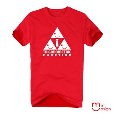 (男款)Mini三角關係潮流設計短T 三色-Minidesign