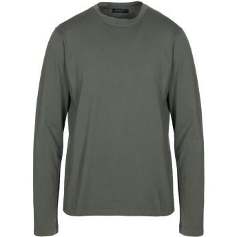 《セール開催中》ARAGONA メンズ T シャツ ミリタリーグリーン 48 コットン 100%