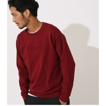 【AZUL by moussy:トップス】【MEN'S】3D LOGO EMBROIDERY PULLOVER