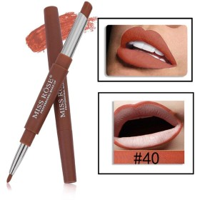 MISS ROSE 2 IN 1-40 LONG LASTING CREME MATTE WATER PROOF LIPSTICK WITH LIP LINER